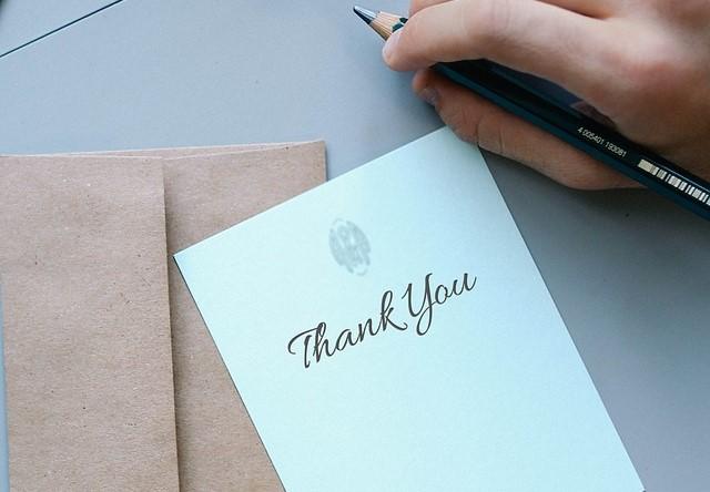 感謝を伝えるメッセージ例文集