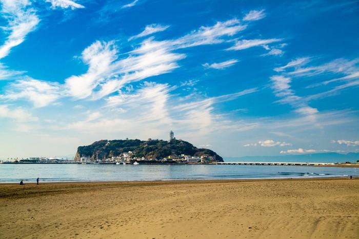 江ノ島のビーチ