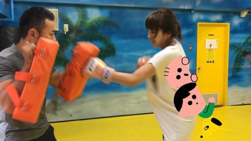 川口春奈のキックボクシング