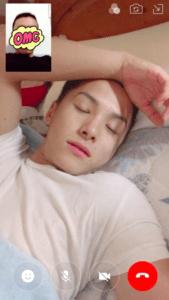 川西拓実の寝顔画像