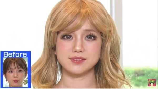 ギャルメイクの弘中アナ