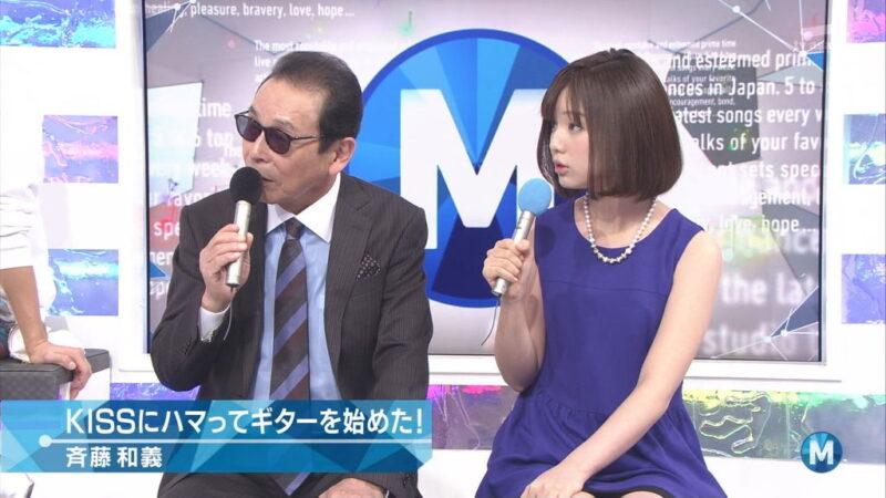 ミュージックステーションでタモリと共演する弘中綾香