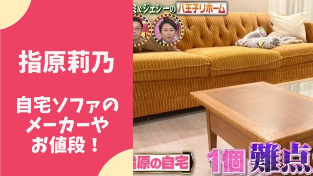 指原莉乃宅のソファはアクメファニチャー!値段が驚愕?どこで買える?